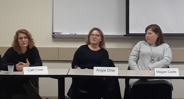 Guest panelists share their experiences with students